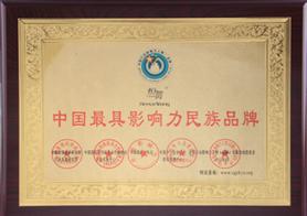 中国最具影响力民族品牌