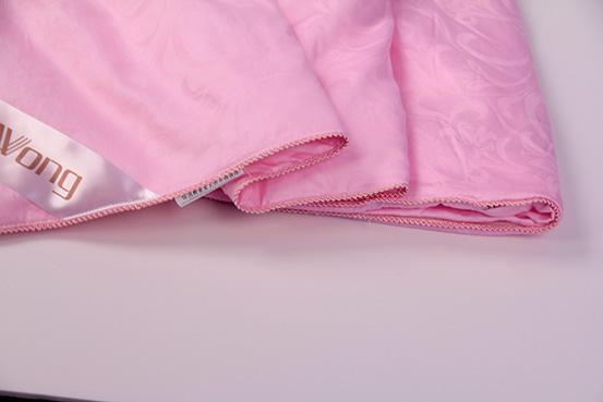粉色水仙提花柞蚕丝被d